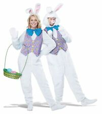 White Easter Bunny Rabbit Mascot Adult Costume Vest Comes With 2 Headpieces