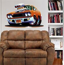 1969 Plymouth Road Runner WALL GRAPHIC DECAL MAN CAVE ROOM GARAGE 6779