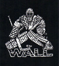The WALL Hockey Goalie YOUTH size T-Shirts brick pads gloves mask