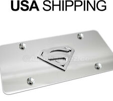 NEW 3D Super Man HOPE Chrome Stainless Steel Vanity License Plate SUPERMAN CC