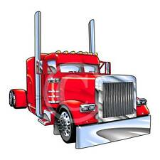 Cartoon Peterbilt 379 Big Rig Semi Truck Hauler Tshirt 8151 automotive art
