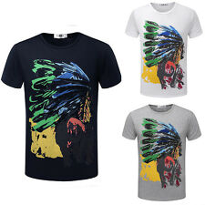 Mens Designer Top Round Neck Short Sleeved Stylish Casual Summer T-shirt Tee YG