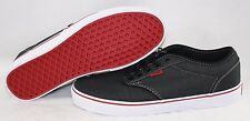NEW Mens VANS Atwood Textile Black Red Classic retro Sneakers Shoes