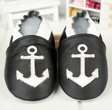 SOFT GENUINE LEATHER BABY SHOES BOOTIES PRAM BOY GIRL 0-6 6-12 12-18 MONTHS CUTE