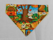 DOG/CAT/FERRET Over Collar REVERSIBLE Bandana~Thanksgiving Fall Autumn Holiday