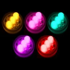 NEW Pack of 10 Vase Lights LED Submersible Waterproof Under Water Super Bright