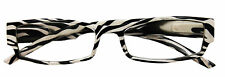 ZEBRA PRINT READING GLASSES IN DIFFERENT LENS STRENGTHS STYLISH SPECTICLES
