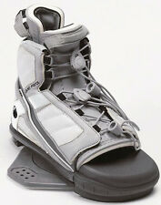 2006 LIQUID FORCE ALPHA WHITE/GRAY MENS WAKEBOARD OPEN-TOE BINDINGS NEW $249