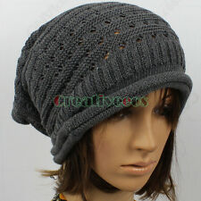 New Fashion Cool Unisex's Slouchy Hollow Out Beanies Winter And Fall Wool Hat