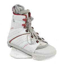 2007 LIQUID FORCE ELEMENT WHITE/RED MENS WAKEBOARD OPEN-TOE BINDINGS NEW $269