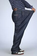 2016 New Mens Jeans Denim Blue Relaxed Trousers Big & Tall Size W36 - W52  #3903