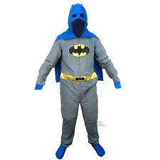 Batman Classic Batman Gray & Blue Costume Adult Licensed Union Suit Pajama S-XXL