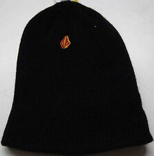 VOLCOM FULL STONE CUFF YOUTH BLACK WINTER KNIT TOQUE BEANIE BRAND NEW