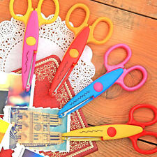 1/6x Kids Childrens Decorative Wave Lace Edge Craft Scissors for Card Paper HF