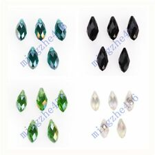 10pcs Teardrop Faceted Pendant Glass Crystal Beads Findings 10x20mm Charms