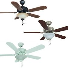 42 Inch Ceiling Fan with Light Kit - Oil Rubbed Bronze, Satin Nickel or White