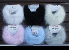 100% Angora rabbit yarn 10x10g ball 6 colors mixed as desired 12% OFF
