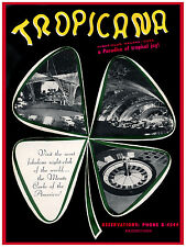 101.Art Decoration POSTER.Graphics to decorate home office.Tropicana Night Club.