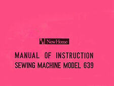New Home Janome 639 * Instruction or Service manual & Parts * CD / PDF