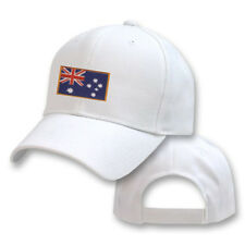 AUSTRALIA AUSTRALIAN WHITE FLAG COUNTRY EMBROIDERY EMBROIDED CAP HAT