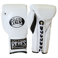 Cleto Reyes Traditional Lace Up Training Boxing Gloves - White