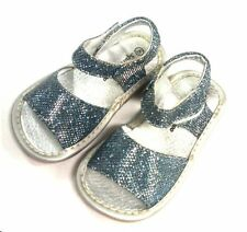 NWT Denim Sparkle Squeaky shoes for Girls SQ-205 Size 4 5 6 7 8