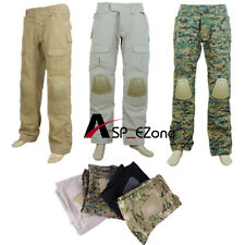 Tactical Integrated Battle Pants W/Pads 5 Colors S-XXL