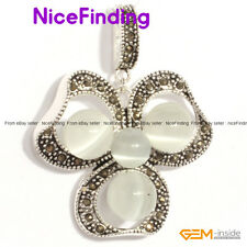 Fashion Flower Tibetan Silver Pendant+Free Chain Fashion Women Jewelry Xmas Gift