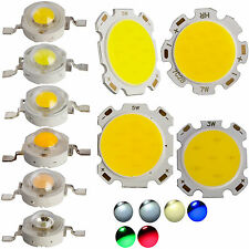 10x 50x SMD COB LED Chip 1W 3W 5W 7W High Power Beads Light Warm/Cool White Lamp