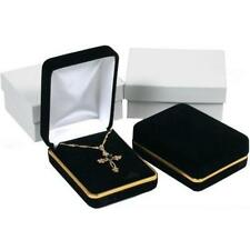 Black Velvet Necklace Pendant Chain Jewelry Gift Boxes Displays Kit