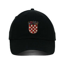 Croatia Flag Seal Embroidered SOFT UNSTRUCTURED Hat Baseball Cap