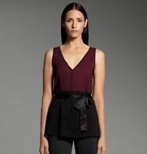 NWT Narciso Rodriguez for DesigNation sleeveless georgette tunic top w/ sash