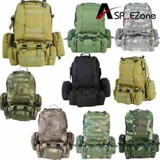 600D Waterproof Molle Large Assault Backpack with Molle Pouches