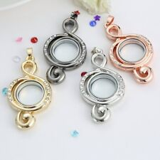 30mm Handmade Locket Living Memory Floating Charm Glass Chain Necklace Pendant