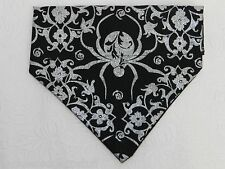 DOG CAT FERRET REVERSIBLE Over Collar Bandana~Black Widow Goth Gothic Halloween