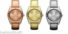NEW-ADIDAS ROSE,GOLD,SILVER PATENT LEATHER BAND+STEEL DIAL WATCH
