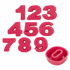 Miniature Birthday Cake Numbers 0-9 Silicone Mould Non Stick Bakeware Oven Safe