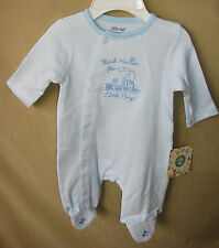 LITTLE ME 100% Cotton Stripe THANK HAVEN FOR LITTLE BOYS Footie SIZE PREEMIE NWT