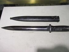 "WWII GERMAN K 98 FNJ MAUSER BAYONET WITH SCABBARD  15"" LONG"