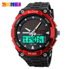 SKMEI Solar Energy Watch Waterproof Digital Date Men's Sport Wristwatches