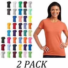 2-PACK-Gildan tshirts Tops-Womens Heavy Cotton™ Ladies T-Shirt
