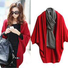 Fashion Womens Loose Batwing Knit Casual Shawl Wrap Cardigan Tops Blouse Overall