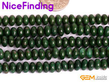 4X6mm Green Pyrite Rondelle Stone Beads For Jewelry Making Gemstone Strand 15''