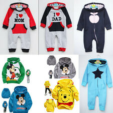 Kids Baby Boys Girls Minnie Mickey Hooded Coat Jacket Jumper  Ages 0-8 years old