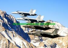 F-35C Lightning II Military Color Photo USN F 18  F/A-18E/F Super Hornets USN