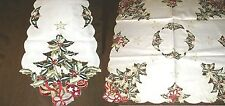 """Table Linens  Holly Tree  design  Runner (68""""x13"""") or Topper (34"""" square)"""