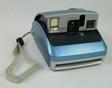 Nice Polarioid One600 Auto Focus Camera Blue Pop-up Working!