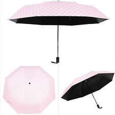 Womens Fashion Folding Windproof Princess Sun Rain Umbrella Anti UV Parasol NEW