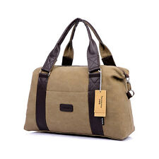 Canvas Duffle Bag Travel Luggage Holdall Carry-On Tote Suitcase Messenger Bag
