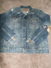 NEW MENS TRUE RELIGION DYLAN BLUE JEAN DENIM JACKET SIZE M MSRP $259 COAT